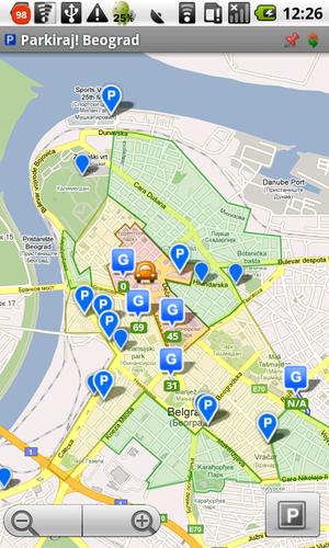 garaže beograd mapa Parkiraj! | Android aplikacija za parkiranje garaže beograd mapa